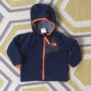 North Face fleece zip up hoodie jacket